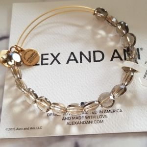 Alex and Ani luxe beaded bracelet in smoke